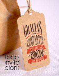 etiquetas kraft para bodas gracias por compartir