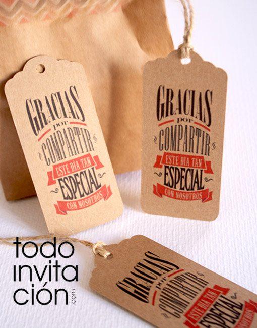 etiquetas kraft para bodas detalles invitados gracias por venir