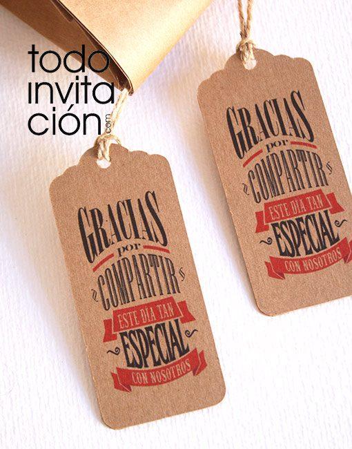 etiquetas kraft para regalos de invitados originales
