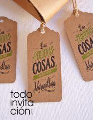 etiquetas kraft para bodas y eventos todoinvitacion