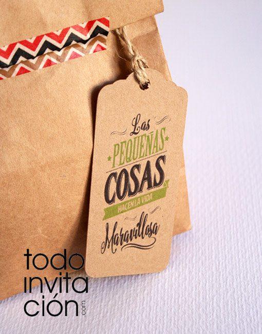etiquetas para regalos de invitados todoinvitacion kraft