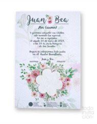 invitacion de boda plantable semillas flores