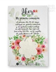 invitacion de comunion semillas floresplantable