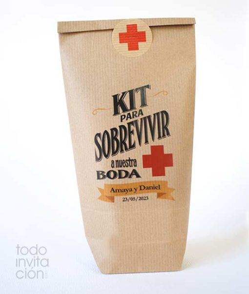 bolsa kit supervivencia boda