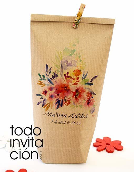 Bolsas kraft personalizadas boda, comunion bautizo