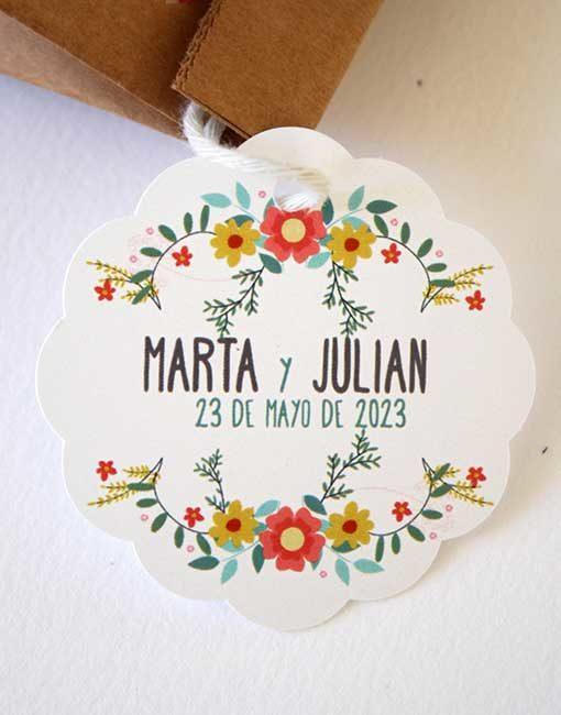 etiqueta kraft personalizada boda comunion bautizo