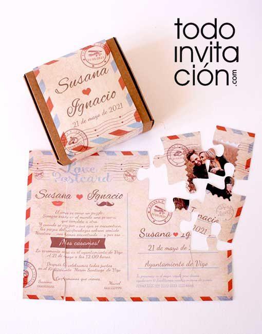 invitacion puzzle boda todoinvitacion