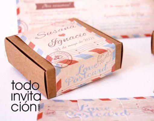 invitacion puzzle con caja