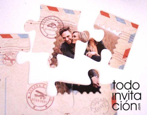 invitacion boda original puzzle