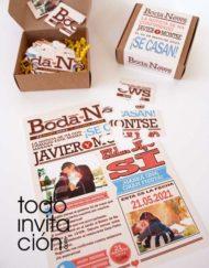 invitacion puzzle portada newspaper todoinvitacion
