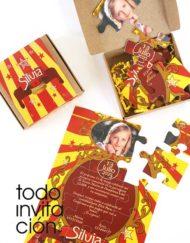 invitación puzzle circus comunión