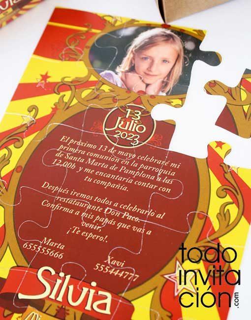 invitacion puzzle comunion circus