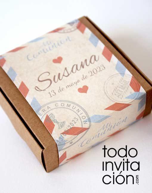 invitacion puzzle caja love postal comunion