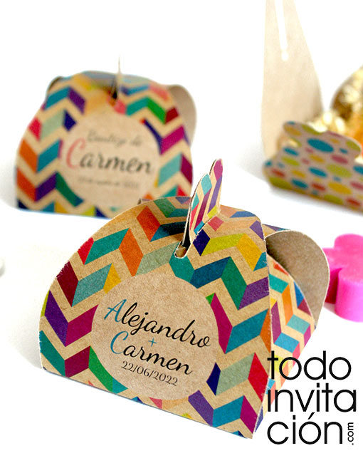 caja kraft personalizada para boda comunion bautizo regalos