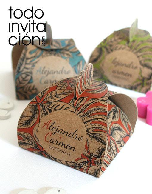 caja personalizada regalos detalles boda