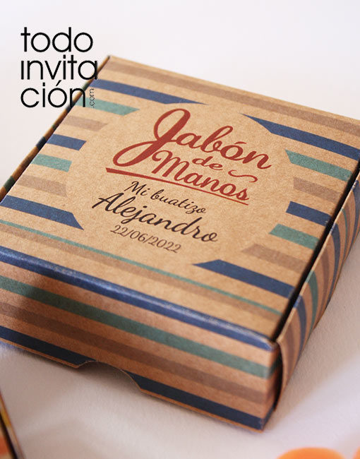 jabon artesanal boda caja kraft