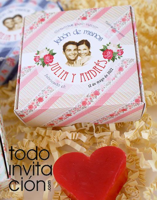 jabón boda regalo invitados