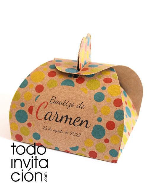 caja kraft personalizada para regalos de comunion y boda