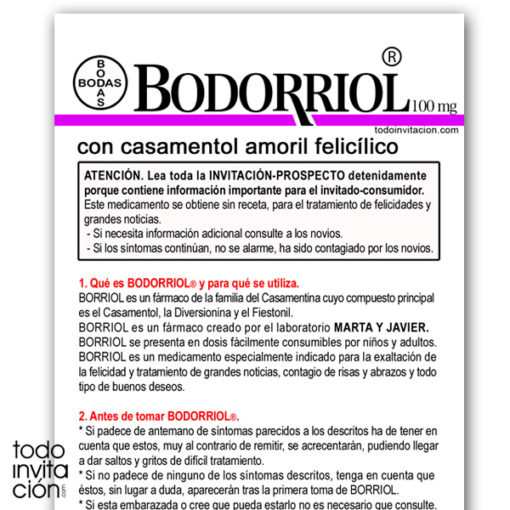 invitacion original bodorriol