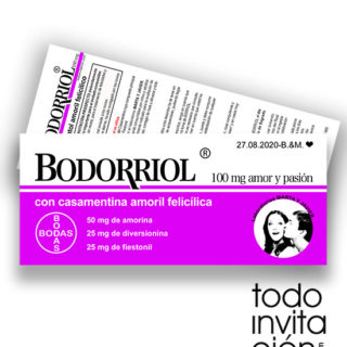 invitacion original boda bodorriol
