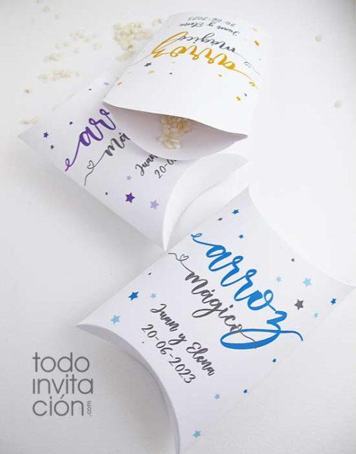 caja arroz para bodas