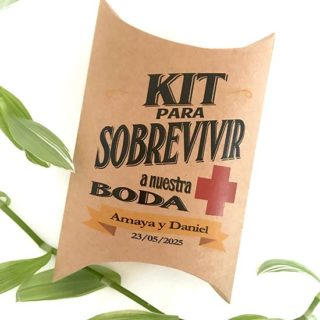 cajas kit supervivencia boda