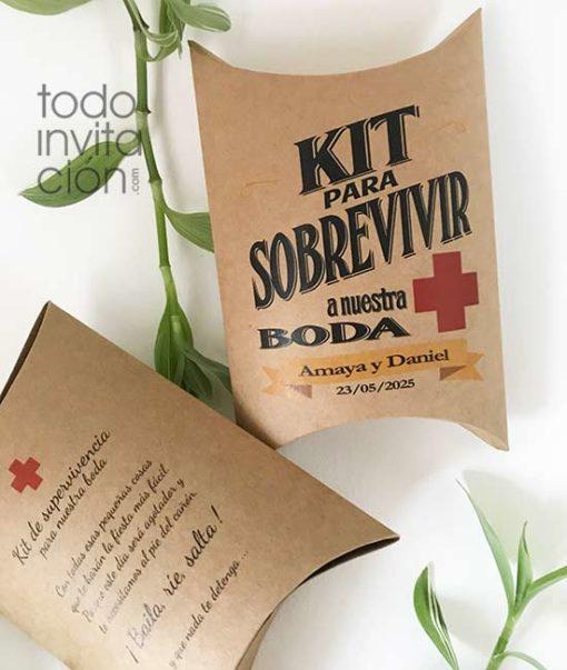 cajas kit supervivencia boda