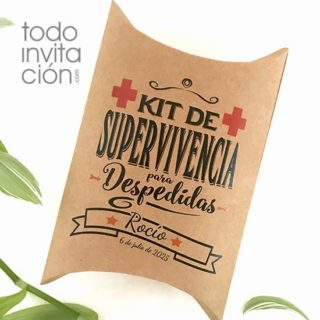 cajas kit supervivencia despedidas