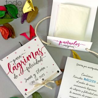 lagrimas de felicidad pañuelos boda