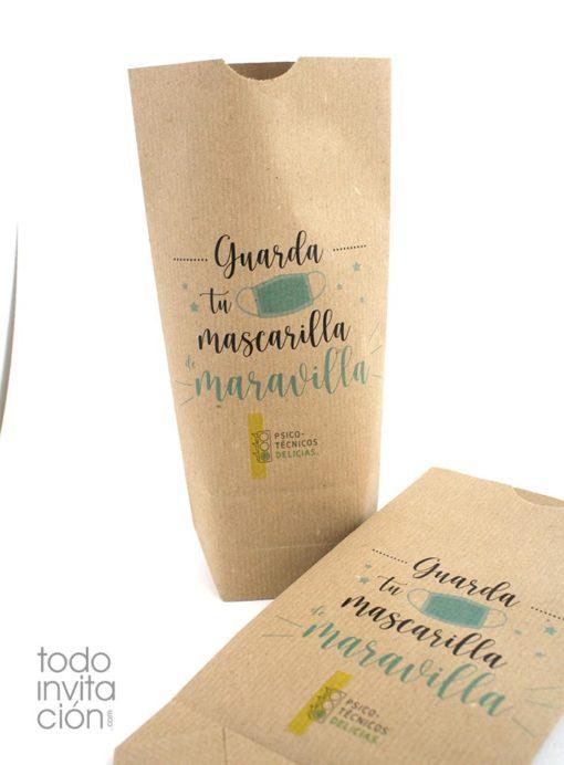bolsas papel porta mascarillas personalizadas
