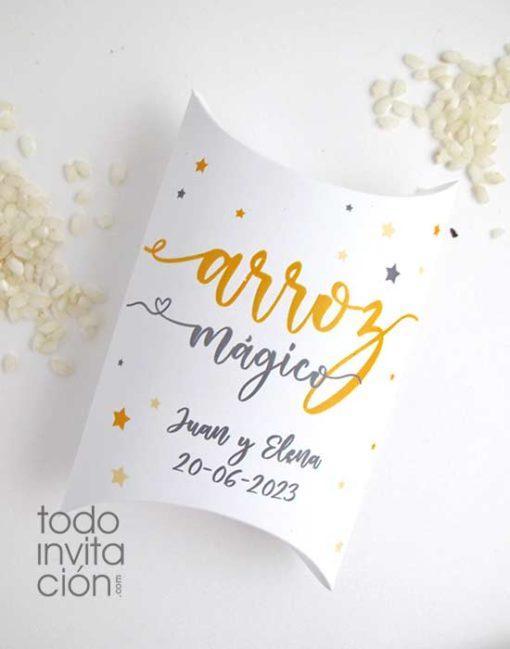 caja de arroz para bodas