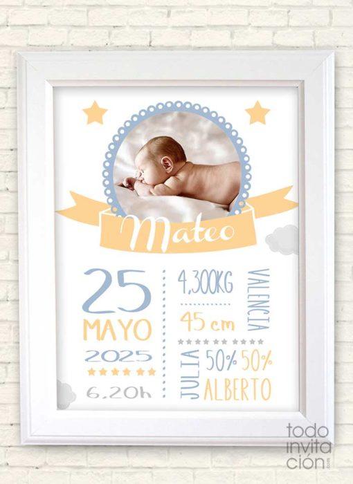 cuadro personalizado nacimientos bebes