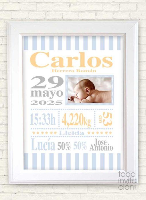 cuadro nacimientos personalizado