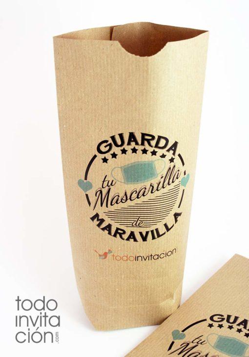 bolsa papel porta mascarillas personalizada