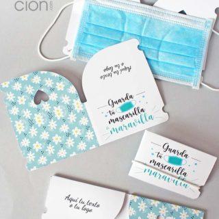 porta mascarillas cartón plegable personalizado