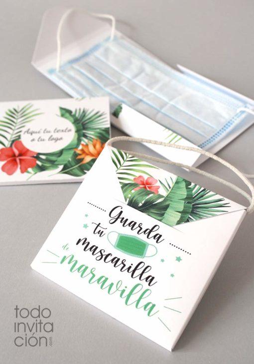 porta mascarillas personalizado carton