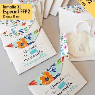 porta-mascarillas funda carton FFP2