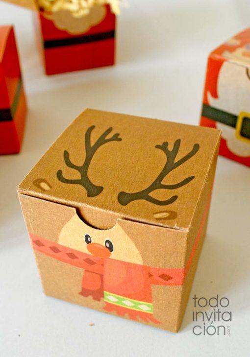 cajas kraft navidad para regalos