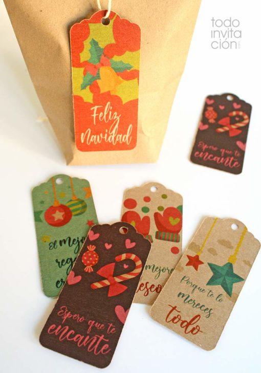 etiquetas navidad para regalos