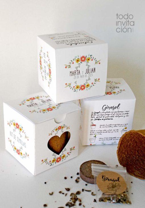 kit de semillas personalizado aromaticas flores