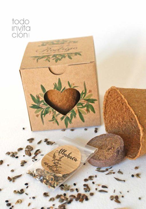 kit semillas personalizado flores