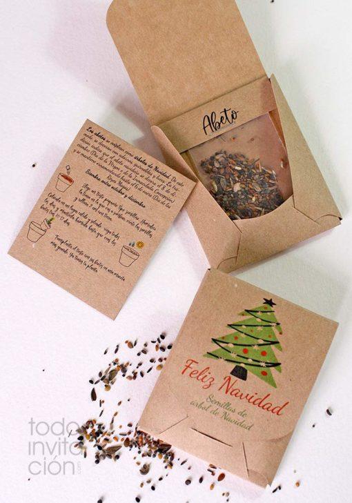 kit semillas navidad regalo empresa