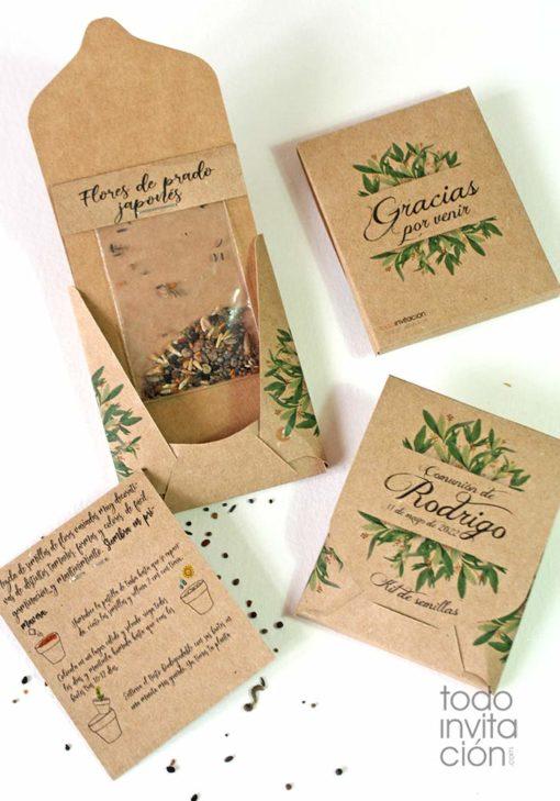 kit semillas personalizado boda bautizo comunion regalo empresa