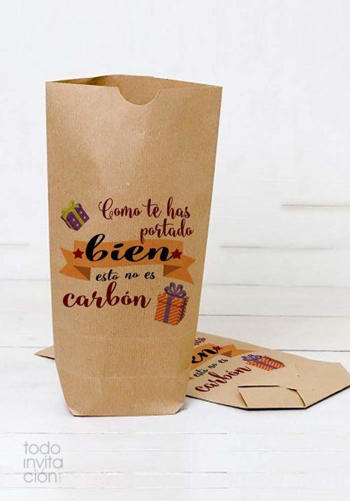 bolsas papel kraft navidad regalos reyes