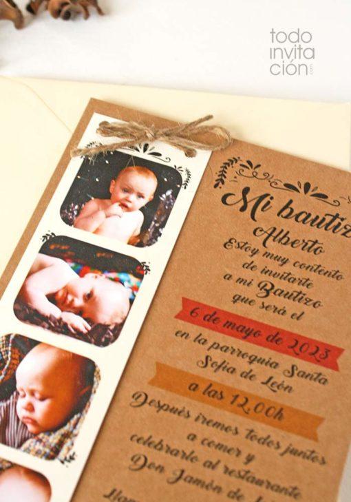 invitacion fotomaton bautizo original